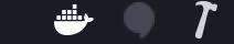 Dockerアイコンの表示