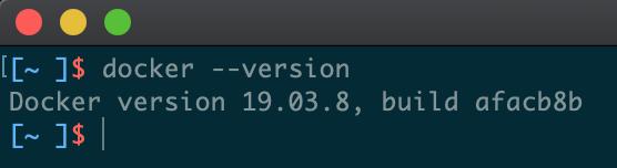 Dockerのバージョン情報